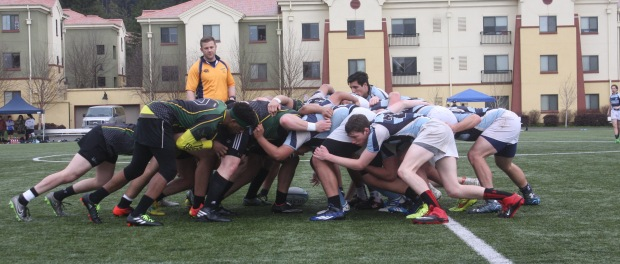 HSU Jacks Rugby versus Sonoma State. Photo | Curran Daly