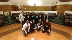Criminal Justice Dialogue organizers and guest speakers posing for a photo. Photo courtesy of Vanessa Vrtiak.